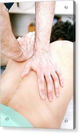 Hip Injury Physiotherapy Acrylic Print
