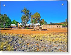 Historical Telegraph Station Alice Springs  Acrylic Print by Bill  Robinson