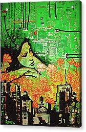 Hive Mind 2.0 Acrylic Print by Erica Falke
