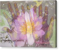 Hold Fast When You Have It Acrylic Print
