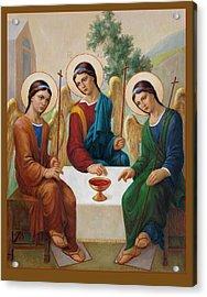 Acrylic Print featuring the painting Holy Trinity - Sanctae Trinitatis by Svitozar Nenyuk