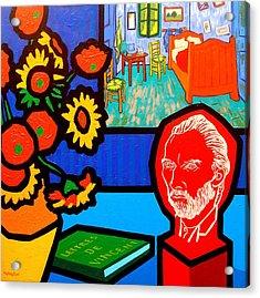 Homage To Vincent Van Gogh Acrylic Print
