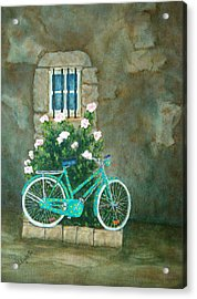 Home For Lunch In Rome Acrylic Print by Pamela Allegretto