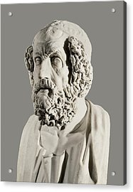Homer 9th Century  Bc. Greek Writer Acrylic Print by Everett