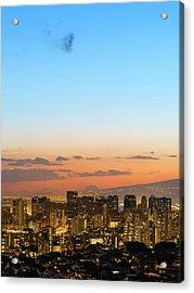 Honolulu Skyline Acrylic Print by Babak Tafreshi