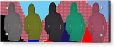 Hoodie Gang Graffiti Fashion Background Designs  And Color Tones N Color Shades Available For Downlo Acrylic Print by Navin Joshi