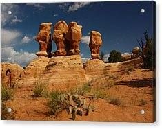 Hoodoos In Devils Garden In Grand Staircase Escalante National Monument Acrylic Print
