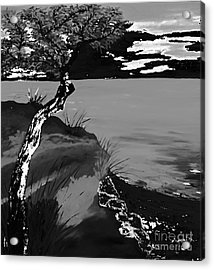 Horizon In Black And White Acrylic Print