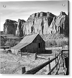 Horse Barn In Fruita Utah Acrylic Print by Jack Schultz