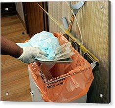 Hospital Waste Disposal Routine Acrylic Print