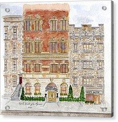 Hotel Washington Square Acrylic Print