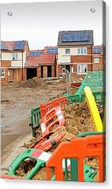 Hutton Rise Housing Development Acrylic Print by Ashley Cooper