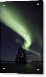 Acrylic Print featuring the photograph Hvitserkur by Frodi Brinks