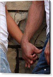Acrylic Print featuring the photograph I Wanna Hold Your Hand by Lesa Fine