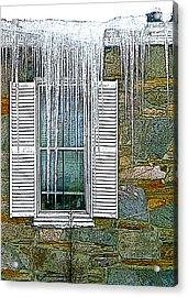 Ice By The Window Acrylic Print
