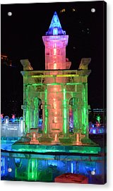 Ice Sculpture Acrylic Print by Brett Geyer