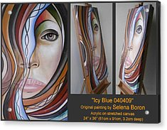 Acrylic Print featuring the painting Icy Blue 040409 by Selena Boron