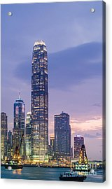 Ifc Tower In Hong Kong Skyline Acrylic Print by Tuimages