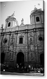 Iglesia De Santo Domingo Santiago Chile Acrylic Print by Joe Fox