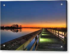 Inlet Sunrise Acrylic Print by Ed Roberts
