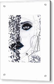 Acrylic Print featuring the drawing Insight by Desline Vitto
