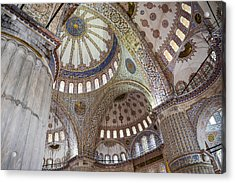 Interior Of Blue Mosque In Istanbul Turkey Acrylic Print