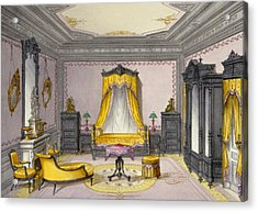 Interior Showing Furniture Acrylic Print by French School
