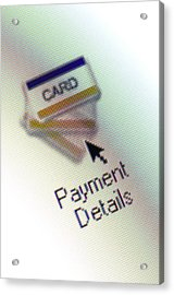Internet Shopping Acrylic Print by Daniel Sambraus/science Photo Library