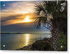 Acrylic Print featuring the photograph Intracoastal Sunrise by Frank Bright