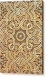 Islamic Plasterwork Acrylic Print by PIXELS  XPOSED Ralph A Ledergerber Photography