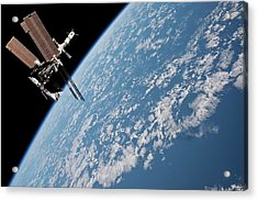 Iss And Space Shuttle Acrylic Print