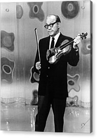 Jack Benny Acrylic Print by Silver Screen