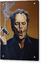 Jack Nicholson Painting Acrylic Print by Paul Meijering