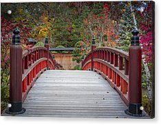 Acrylic Print featuring the photograph Japanese Bridge by Sebastian Musial