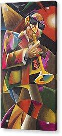 Jazz Horn Acrylic Print by Bob Gregory