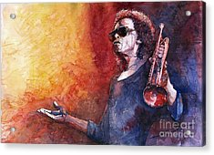 Jazz Miles Davis Acrylic Print by Yuriy Shevchuk