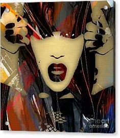 Jessie J Collection Acrylic Print by Marvin Blaine