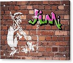 Jimi Graffiti Acrylic Print