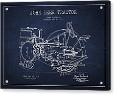 John Deer Tractor Patent Drawing From 1933 Acrylic Print by Aged Pixel
