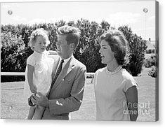 John F. Kennedy With Jacqueline And Caroline 1959 Acrylic Print