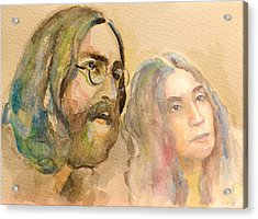 Acrylic Print featuring the painting John Lennon by Laur Iduc