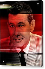Johnny Carson Acrylic Print by Marvin Blaine
