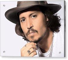 Johnny Depp Acrylic Print by Karon Melillo DeVega