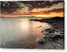 Jura Sunset Acrylic Print by Grant Glendinning