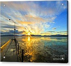 K Bay Sunrise Acrylic Print