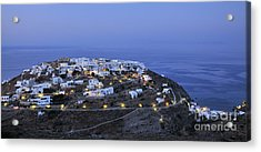 Kastro Village In Sifnos Island Acrylic Print