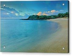 Kaupoa Bay Shoreline On Molokais West Acrylic Print