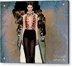 Kendall Jenner Acrylic Print by Marvin Blaine