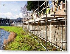 Keswick Flood Defences Acrylic Print