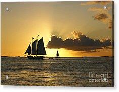 Acrylic Print featuring the photograph Key West Sunset by Olga Hamilton
